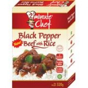 2 Minute Chef Black Pepper Beef With Rice